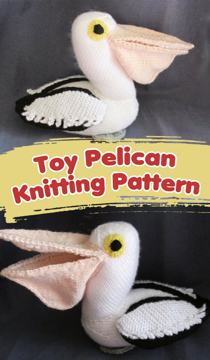 Toy Pelican bird knitting pattern