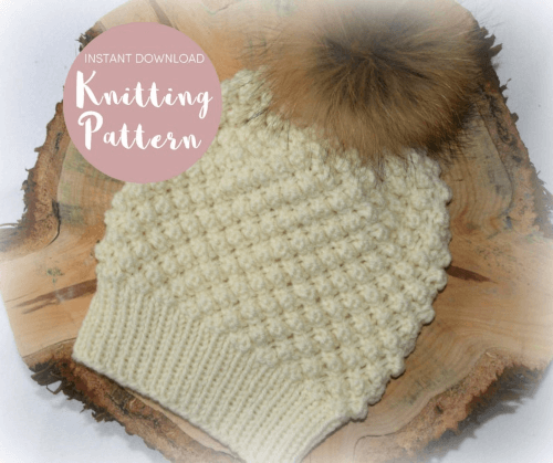 bobble hat knitting pattern