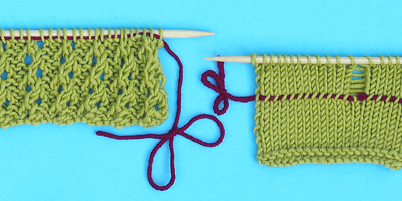 how to make a lifeline frogging knitting