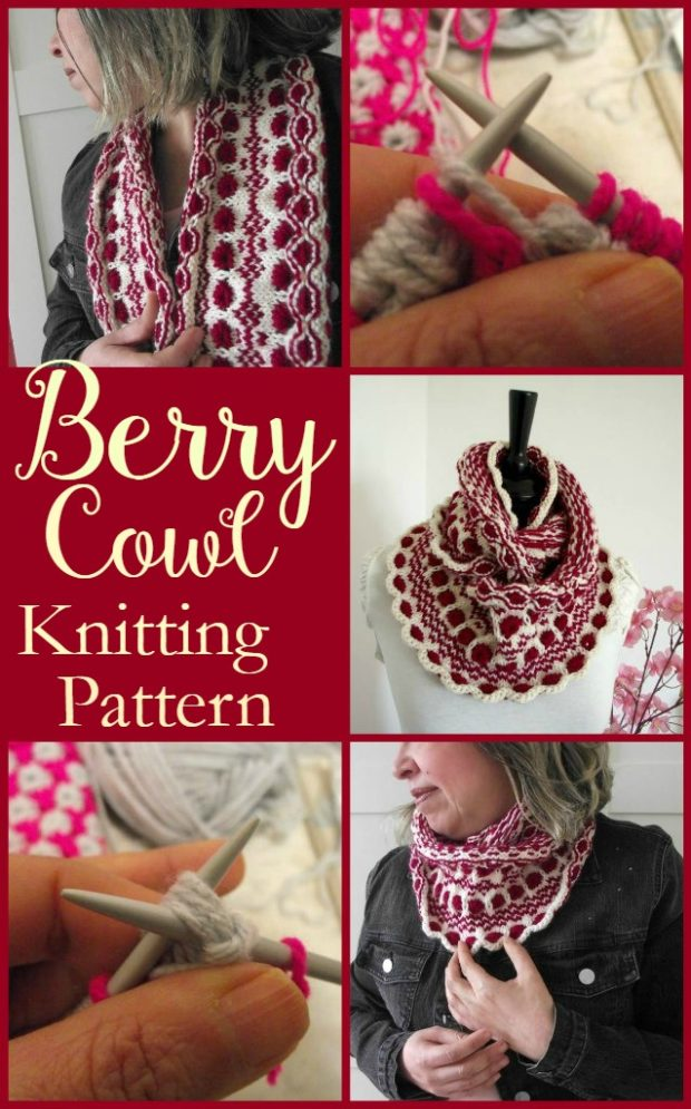 Berry Cowl Knitting Pattern