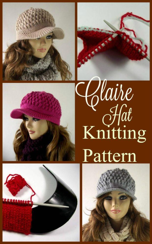 Clair Hat Knitting Pattern