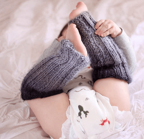 Baby Ombre Leg Warmers Knitting Pattern by Gina Michele