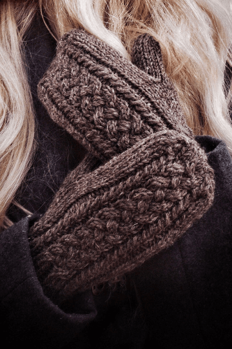 Cable Knit Mittens Pattern by Darling Jadore