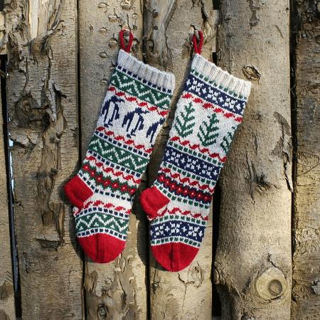 Christmas Stockings Knitting Pattern by Santa's Sock Central