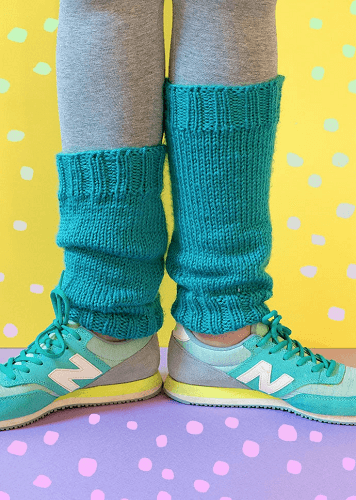 Classic Leg Warmers Knitting Pattern by My Poppet Makes