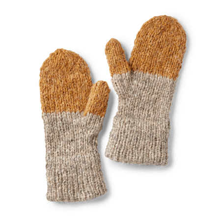 Double Cuffed Knit Mittens Pattern by Yarnspirations