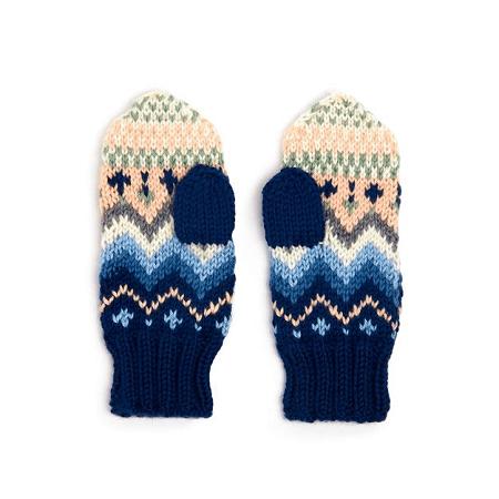 Fair Isle Knit Mittens Pattern by Yarnspirations