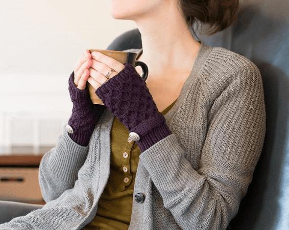 Fingerless Mitten Knitting Pattern by Adknit