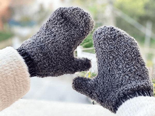 Fuzzy Knit Mittens Pattern by Handy Little Me
