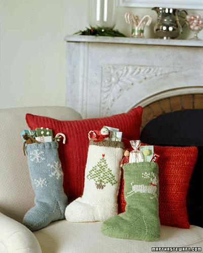 Knit Christmas Stocking Pattern by Martha Stewart