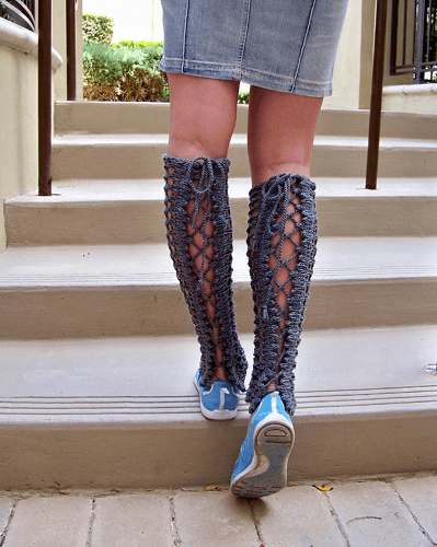 Lace Leg Warmers Knitting Pattern by Natalya 1905