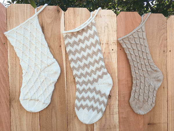 Simple Christmas Stockings Knitting Pattern by Carissa Browning
