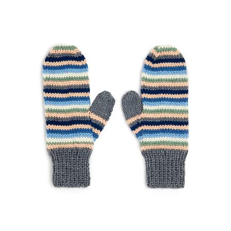 Stripey Knit Mitten Pattern by Yarnspirations