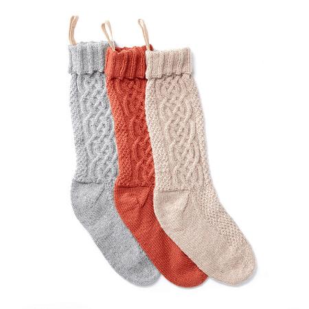 Sugar Twist Knit Christmas Stocking Pattern by Yarnspirations