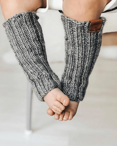 Taylor Baby Leg Warmers Knitting Pattern by Alabaster Purl