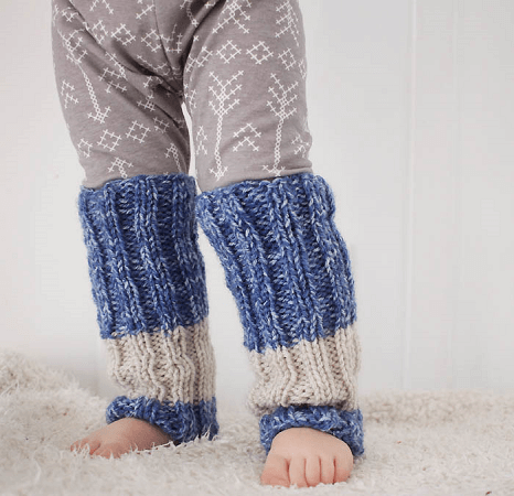 Toddler Legwarmer Knitting Pattern by Gina Michele