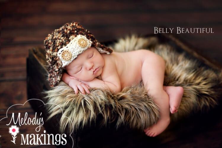 Baby Bush Pilot Aviator Hat Knitting Pattern by MelodyMakings
