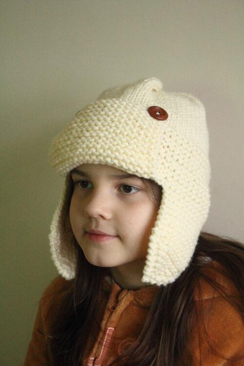 Earflap Knit Aviator Hat Pattern by bestpatternsever