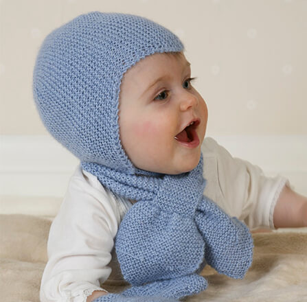 Free Baby Aviator Hat Knitting Pattern by DROPS Design
