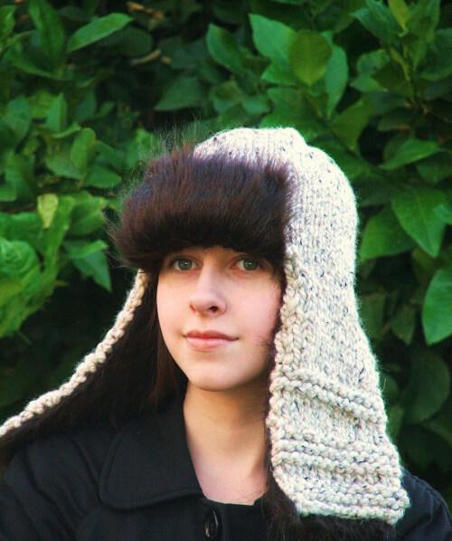 Knit Aviator Hat Pattern by CreatiKnit