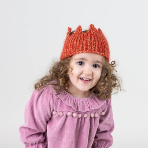 Knitted Crown Headband from Hobbii
