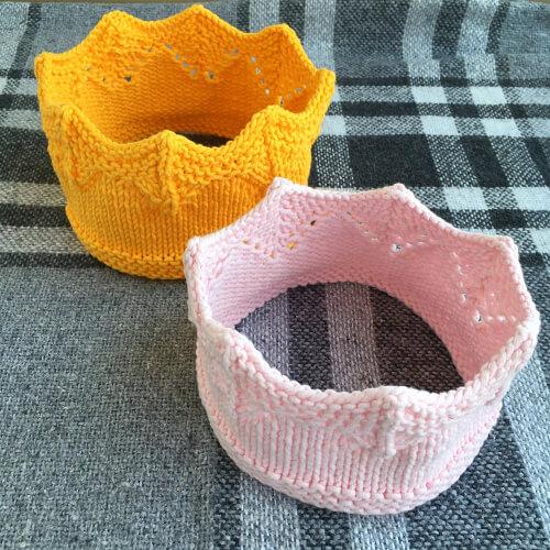Princess Crown Knitting Pattern by JustEasyKnitting