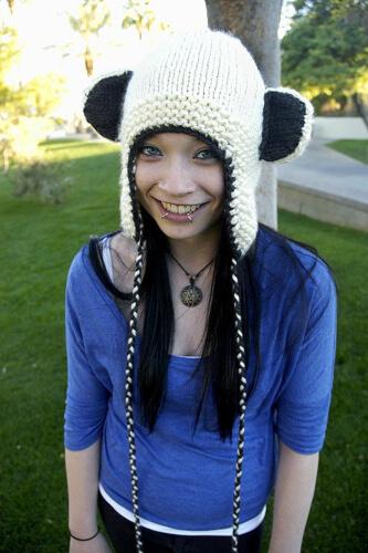 Bear Knitted Earflap Hat Pattern by LadyLilliput