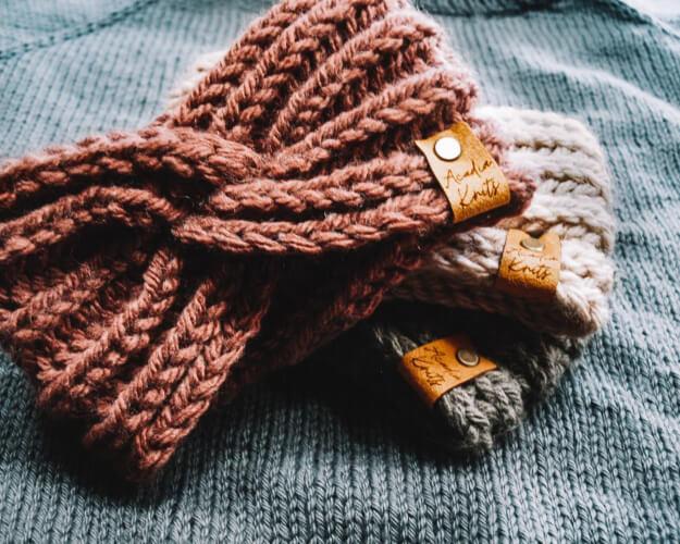 Cadillac Knot Ear Warmer Knitting Pattern by AcadiaKnitsStudio