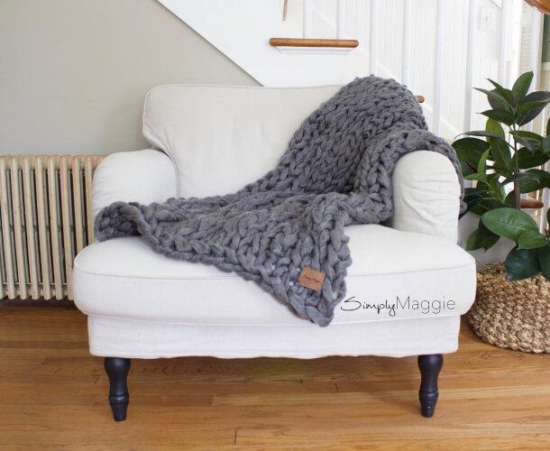 Chunky Blanket Knitting Kit from SimplyMaggieKnits