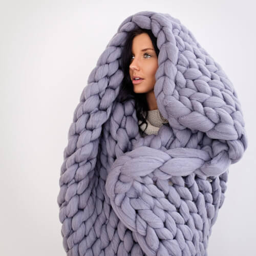 DIY Chunky Knit Blanket Kit from Becozi
