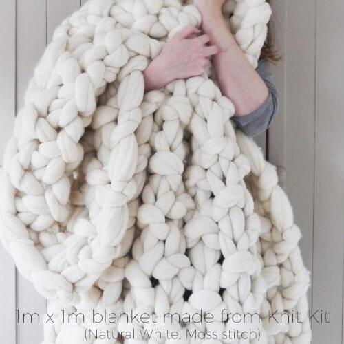 DIY Chunky knit blanket kit from LaurenAstonDesigns