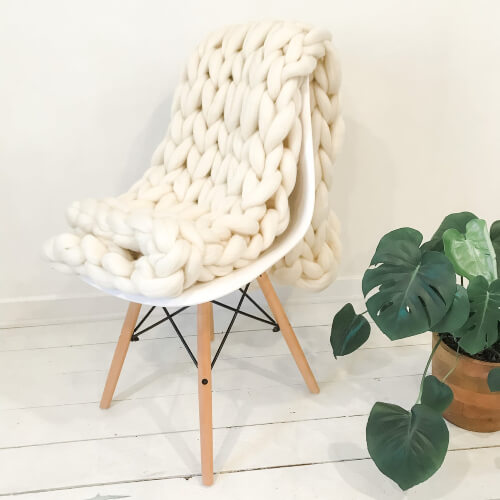 Double Chunky Blanket Knitting Kit from caracorey
