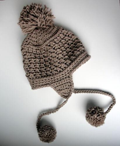 Ear Flap Hat Crochet Pattern by longbeachdesigns