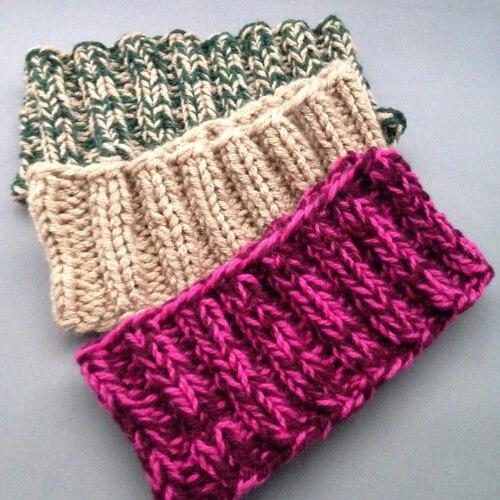 Easy Headband Knit Pattern by Laura's Knits