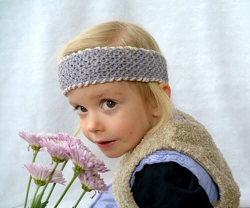 Easy Seed Stitch Light Headband Knit Pattern by Jessica Potasz