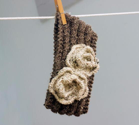 Flower Headband Knit Pattern by beadedwire