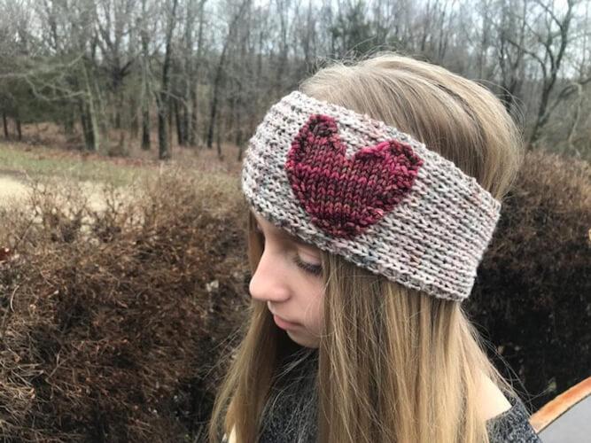 Heart Knitting Headband Pattern by SealedbyaKris
