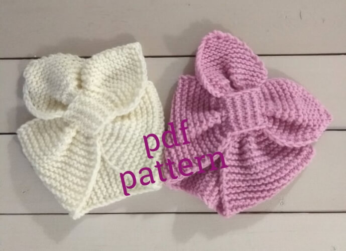 Knit Headband for Girl Solokha by knittingfornewborn