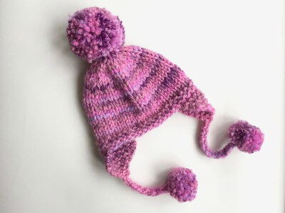 Knit Womens Beanie With Ear Flaps