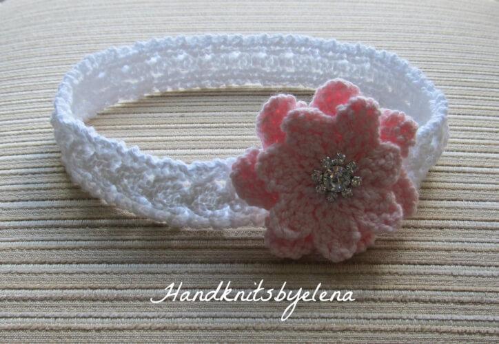 Marisha Knitting Headband Pattern by handknitsbyElena