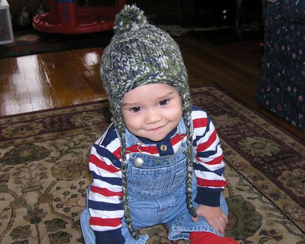 Oliver's Earflap hat Knitting Pattern by Kristina Schmidt