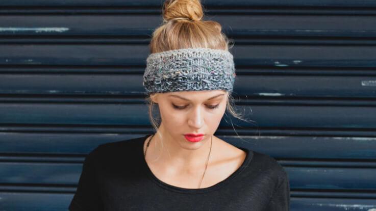 Stylish Winter Headband Knit Pattern by Davina Choy