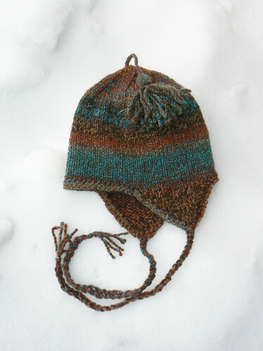 Very Basic Bulky Knitted Earflap Hat Pattern by Anne Carroll Gilmour