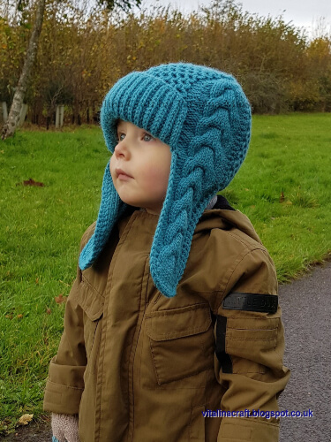 Winterberry Knitted Earflap Hat by ViTalinaCraft