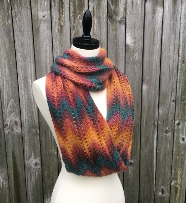 Autumn Infinity Knitted Infinity Scarf Pattern by KnitAndCrochetEvrAft