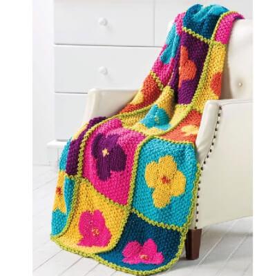 Baby Blanket Poppy Knitted Pattern by KnittingLeila