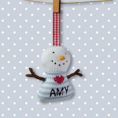 Christmas Decoration Snowman Knitting Pattern by BooBiloo