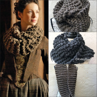 Claire's Cowl Outlander Knitted Infinity Scarf by KnitzyBlonde