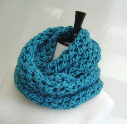 Infinity Scarf quick and Easy knitting Tutorial for Beginners by Richmondhillknits