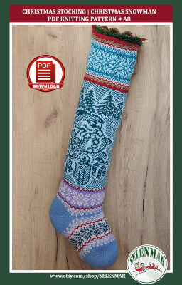 Knitted Christmas Stocking Pattern by SELENMAR